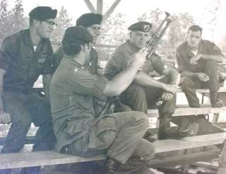 US Army Green Beret Special Forces Weapons Instructors Photo Vietnam