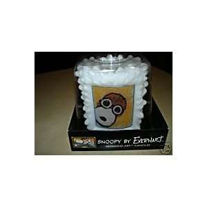 PEANUTS SNOOPY GLOWING ART CANDLE BY TOM EVERHART: Home & Kitchen