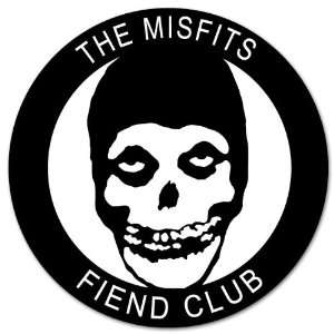 Misfits Fiend Club car bumper sticker decal 4 x 4