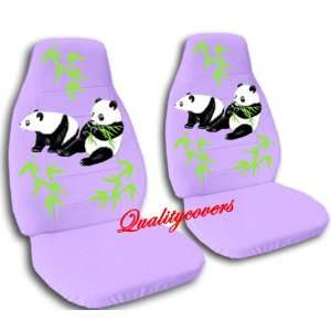 2 violet Panda bear car seat covers, for a 2003 Ford
