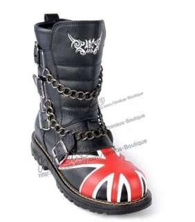 MENS PUNK VISUAL kei Goth hard metal ROCK Belt boots