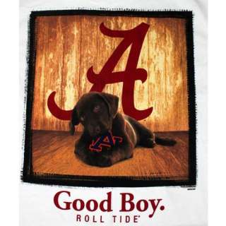 Alabama Crimson Tide T Shirt   Mans Best Friend   Good Boy   Color Is