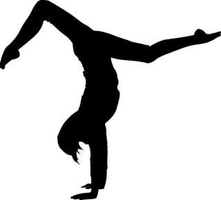 Yoga Silhouette 2 Vinyl Sticker Decal Window Exercise