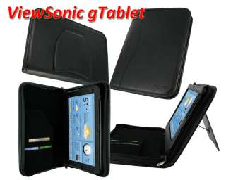 Leather Folio Case Cover for ViewSonic G Tablet gTablet 10.1