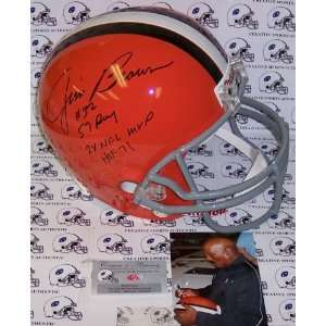 Jim Brown Hand Signed Cleveland Browns Throwback Full Size