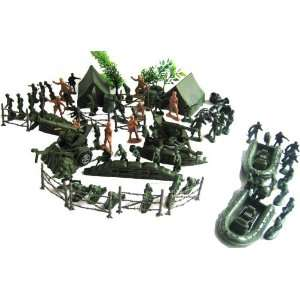 120pc Military Toy Army Men Soldier Play Set: Toys & Games