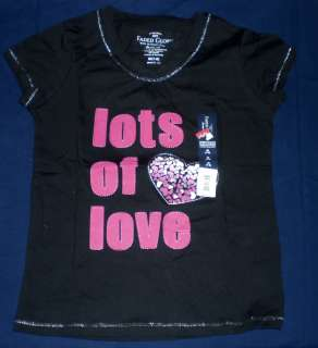 Glory girls black t shirt top Lots Of Love in pink M 7 8