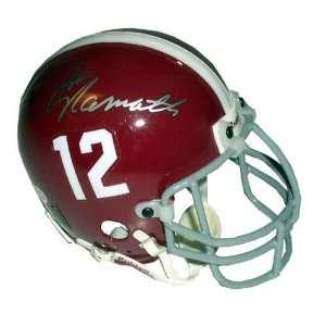Joe Willie Namath Alabama Crimson Tide Autographed Mini
