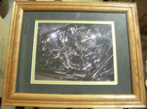 USED FRAMED HARLEY DAVIDSON MOTORCYCLE ENGINE PICTURE 2002 TWIN CAM 88