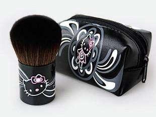 New Mini Small Cute Hello Kitty Makeup Blush Brush & Pouch Purse Bag