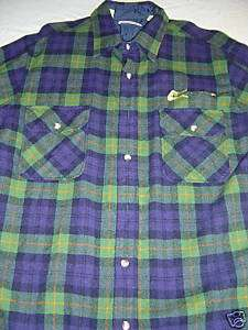 blue WOOL PLAID FLANNEL GUITAR SHIRT TL Mod Urban Indie