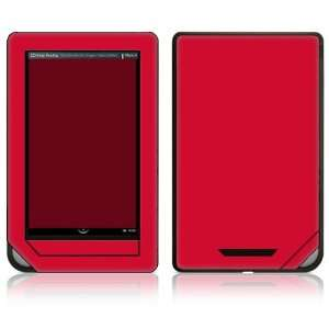 Nook Color Decal Sticker Skin   Simply Red