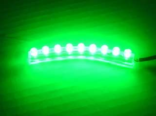 Green 9 LED FLEXIBLE STRIP MOTORCYCLE/CAR/BOAT Bright POD LIGHT 12V