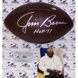 Browns Jim Brown Hand Signed Official NFL Football