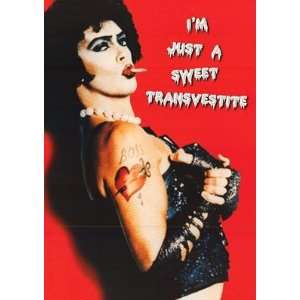 Horror Picture Show   Sweet Transvestite 24x34 Poster: Home & Kitchen
