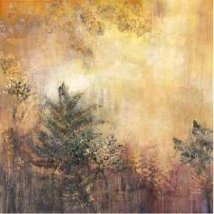 Jennifer Hollack: 36W by 36H : Woodland Twilight CANVAS Edge #4: 1 1