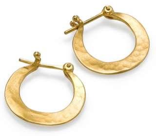 Shraga Arad Charming Beautiful 24K GP Leaves Earrings Pair Free