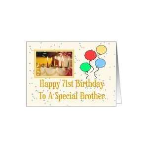 Brother 71st Happy Birthday Card Card: Health & Personal