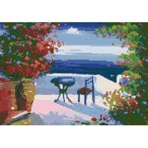 Greek Seaside Veranda Counted Cross Stitch Kit: Everything Else