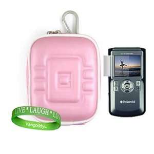 Mini Camcorder Accessories Kit EVA Smooth Baby Pink Protective Hard