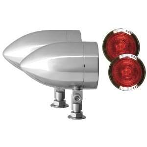 Adjure NS23512 Beacon 2 Red Lens 35W Universal Mount Smooth Chrome