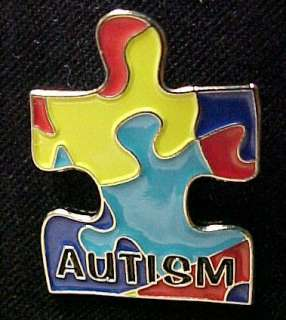 Autism Asperger Color Puzzle Piece Awareness Pin Tac
