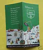 1950s Ohio Turnpike road map brochure pre interstate