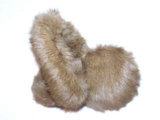 REAL Rex RABBIT brown EARMUFFS VALENTINES DAY GIFT