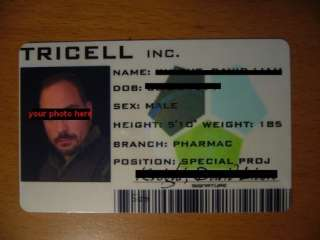 Resident Evil 5 Tricell ID Card Customize it RE5 Prop