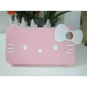 3d Bow Pink Hello Kitty Protective Case for Apple Iphone 4