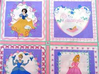 Fabric 35 Belle Cinderella Aurora Snow White Cartoon Movie
