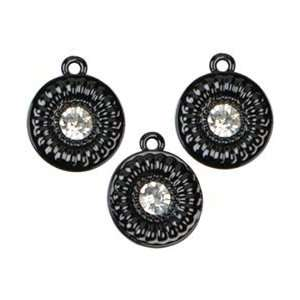 Cousin Jewelry Basics Metal Charms 3/Pkg Black Large