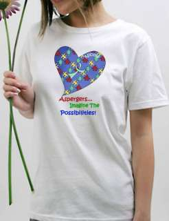 Personalized Autism Awareness Puzzle Heart Ribbon T Shirt Sizes Small