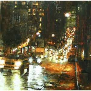 Mark Lague   Bay Hill Lights Canvas Giclee: Home & Kitchen