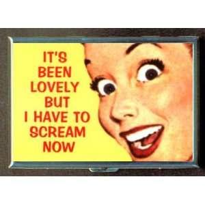 KL RETRO SCREAM BIG EYE WOMAN ID CREDIT CARD WALLET CIGARETTE CASE