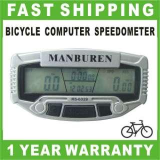 Bike Speedometer HD LCD Bicycle Cycle Computer Odometer Trail Tech