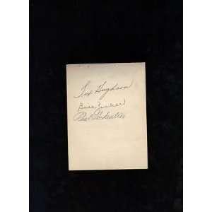 Paul Schreiber Bill Zuber signed autographed album page