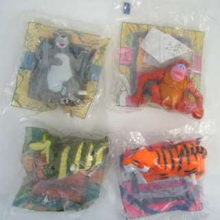RARE Disney JUNGLE BOOK McDonalds Happy Meal Toy SET 4