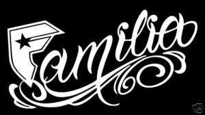 Famous Stars & Straps Familia 12 Decal Window Sticker