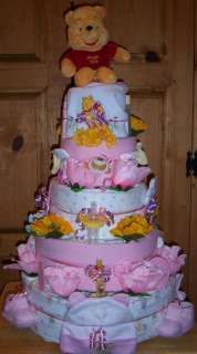 Baby Shower 5 Tier Diaper Cake, Safari, Princess, Winnie The Pooh