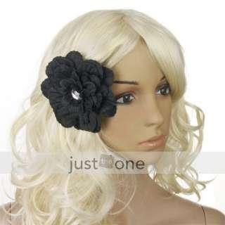 Baby Girl Kids Peony Flower Hair Clip + Headband Set