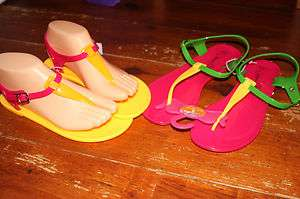 2012 Jelly Toe Post Sandals Flip Flops Beach Shoes UK 3 4 5 6 7 8