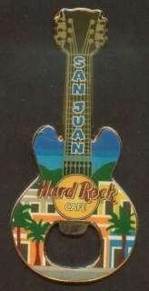 Hard Rock Bottle Opener Guitar Magnet   San Juan