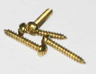200 1/2 inch Brass Plated #2 Phillips Round Head Screws