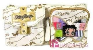 Signature Betty Boop Fanny Pack Wrist Purse Bag White