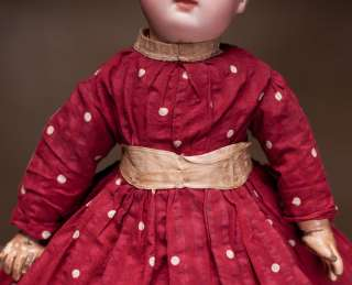 Antique French Original Dress + Hat for Jumeau, Bru, Steiner Bebe doll