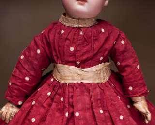 Antique French Original Dress + Hat for Jumeau, Bru, Steiner Bebe doll