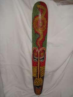 40 Bali Hand Painted Tiki Lombok Mask Yellow Snake ART