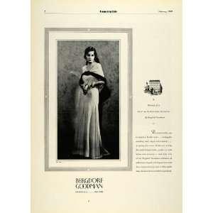 1931 Ad Bergdorf Goodman Department Store Nightdress Lady