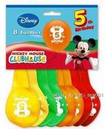 8pc Disney Mickey Mouse 5th Birthday Party Balloon